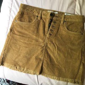 Caramel Corduroy Skirt